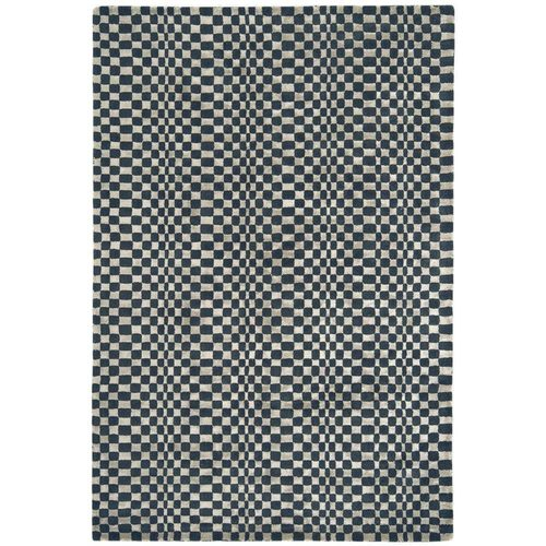 Teppich 50% Wolle Design OSKA RUG 160x230cm CHARCOAL Antrazit/beige