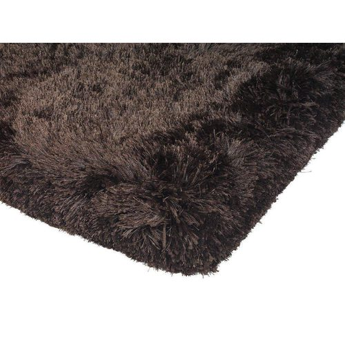 Teppich Shaggy Design PLUSH RUG 140x200cm DARK CHOCOLATE Braun