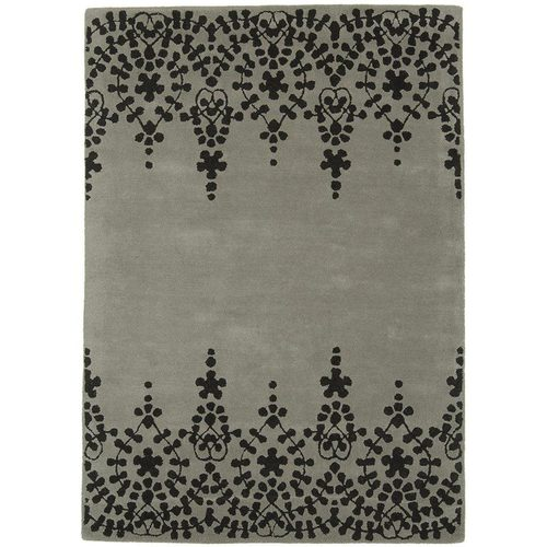 Teppich 100% Wolle Design MATRIX RUG 120x170cm Guild Grey Grau