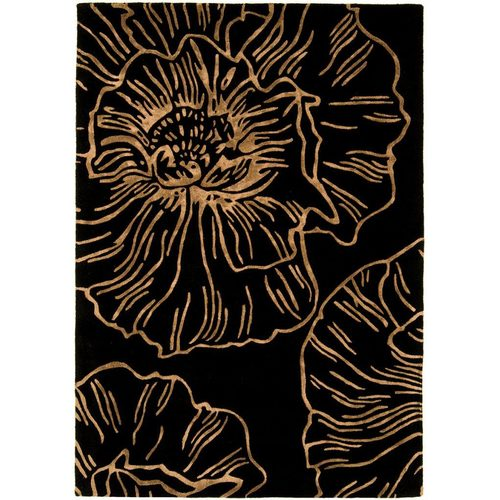 Teppich 100% Wolle Design MATRIX RUG 120x170cm Liberty Black Schwarz
