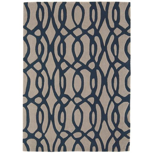 Teppich 100% Wolle Design MATRIX RUG 200x300cm  Wire Blue Blau