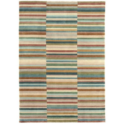 Teppich modernes Design JACOB STRIPE RUG GREEN 200x300cm Wolle
