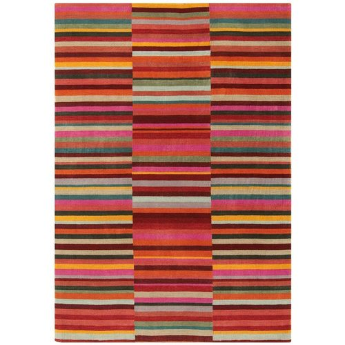 Teppich modernes Design JACOB STRIPE RUG RED 120x180cm Wolle