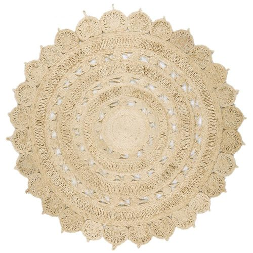 Teppich modernes Design ZIRA JUTE CIRCLE RUG LIGHT NATURAL Jute