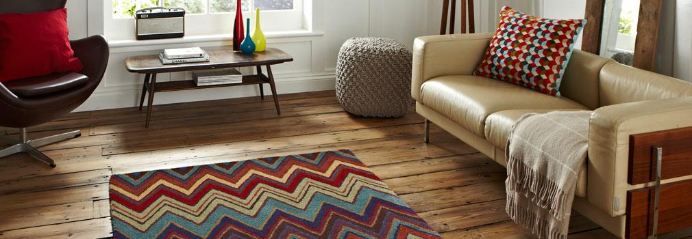 Teppiche aus Wolle, Leder, Baumwolle